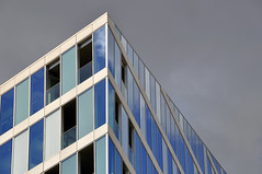 Angular Choice ([stephpenk]) Tags: blue windows abstract building london lines architecture angle geometry paddington angular waterside nikond90 ministract stephpenk
