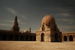 Ibn Tulun mosque (sonofwalrus) Tags: africa slr architecture canon minaret islam egypt middleeast mosque cairo masjid  ibntulunmosque  eos400d