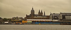 AMSTERDAM: VIEW ACROSS THE IJ RIVER (Akbar Simonse) Tags: holland netherlands amsterdam bravo thenetherlands centraalstation centralstation ij stnicholaschurch stadsarchief stnicolaaskerk flickrgold worldicon theperfectphotographer stadsarchiefamsterdam 200000000stagelovers akbarsimonse