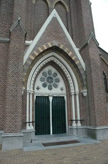 our church's entrance (trekamerikalover) Tags: hometown dutchhouses autumnfolliage