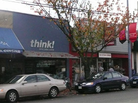 Small businesses on West 10th Avenue and Sasamat Street