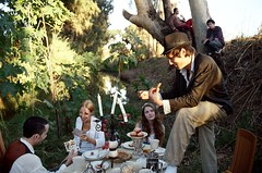 A Mad Tea-Party (aragonzo) Tags: tree cards cupcakes aya candles cookie kodak 200asa nophotoshop aliceinwonderland hess yoni idan madteaparty apricottart yotam almog wefinallydidit howdomyfriendsstandme grapescandlestick