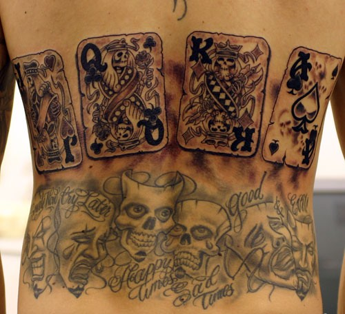skull tattoo on back. Cards Skull Tattoos on Back