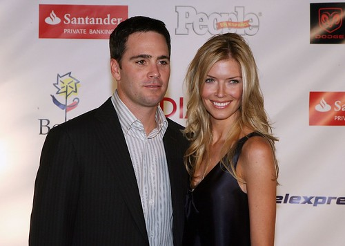 jimmie johnson wife. Jimmie Johnson and his wife