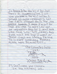 Letter from 2ESAE pg-5 (Bennett 4 Senate) Tags: from mike graffiti acc lab prison research crew letter fellow grl rikers baca fatlab convicted 2esae fffffat