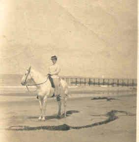 Grandma on a horse on Coronado 1904