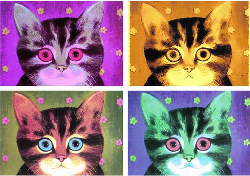 4 cats pop art a photo on flickriver
