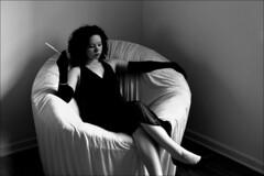 noir revisited (mattbellphoto) Tags: portrait blackandwhite woman dark noir cigarette blackdress hurrell