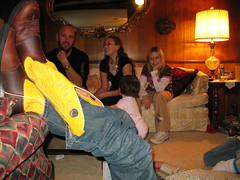kickin' back with his yellow boots (randi rivers) Tags: family holiday yellow texas kicks randi 2007 kickers yellowboots tannerskickinbackwithhisyellowboots kickinaround