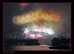 Sydney 2008 New Year Fireworks III (l plater) Tags: longexposure nightimages sydney australia coathanger 2008 harbourbridge balmain happynewyear nye2007 newyearseve2007 newyearfireworks bestofaustralia lplater 31dec07 mortbaypark