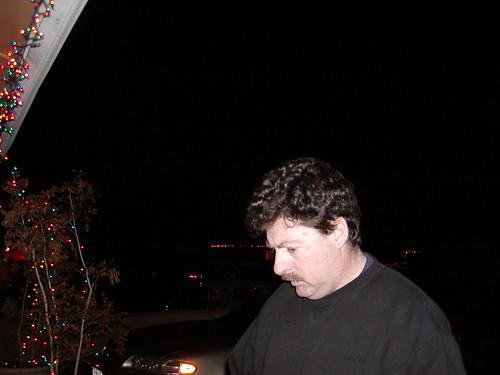 Grant hanging Christmas lights