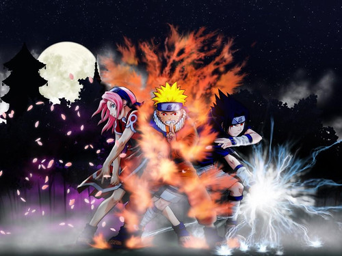 naruto and sasuke and sakura. naruto sasuke sakura