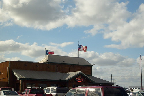 Flags Flying Over Texas