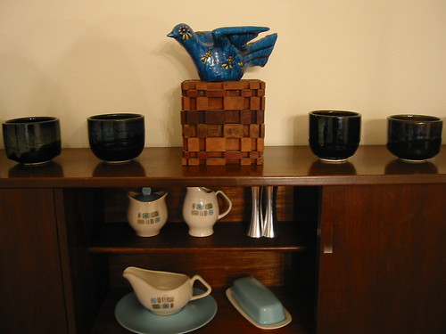 Dining room hutch close-up