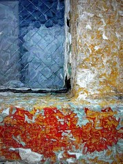 mottled window (msdonnalee) Tags: abstract texture window glass wall ventana paint decay fenster  finestra janela texturas abstrait venster abstractos    donnacleveland photosbydonnacleveland