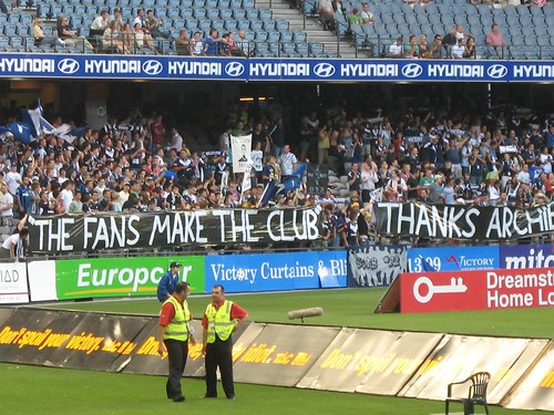 Northern terrace thanks Archie