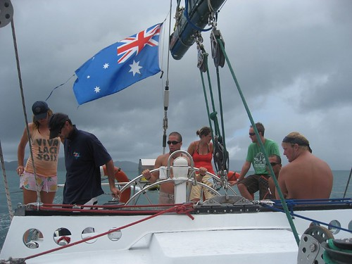 Sailing off the east coast of Australia