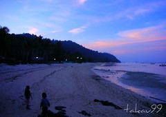 Twilight Beach on Koh Ngai , Thailand (_takau99) Tags: ocean sea beach water topv111 night thailand island twilight topv555 topv333 nikon marine asia southeastasia indian indianocean topv444 january topv222 thai tropical coolpix s1 hai trang 2007 andaman andamansea kohngai ngai kohhai takau99
