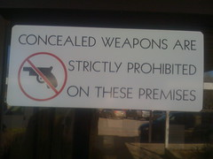 Concealed weapons are strictly prohibited on these premises