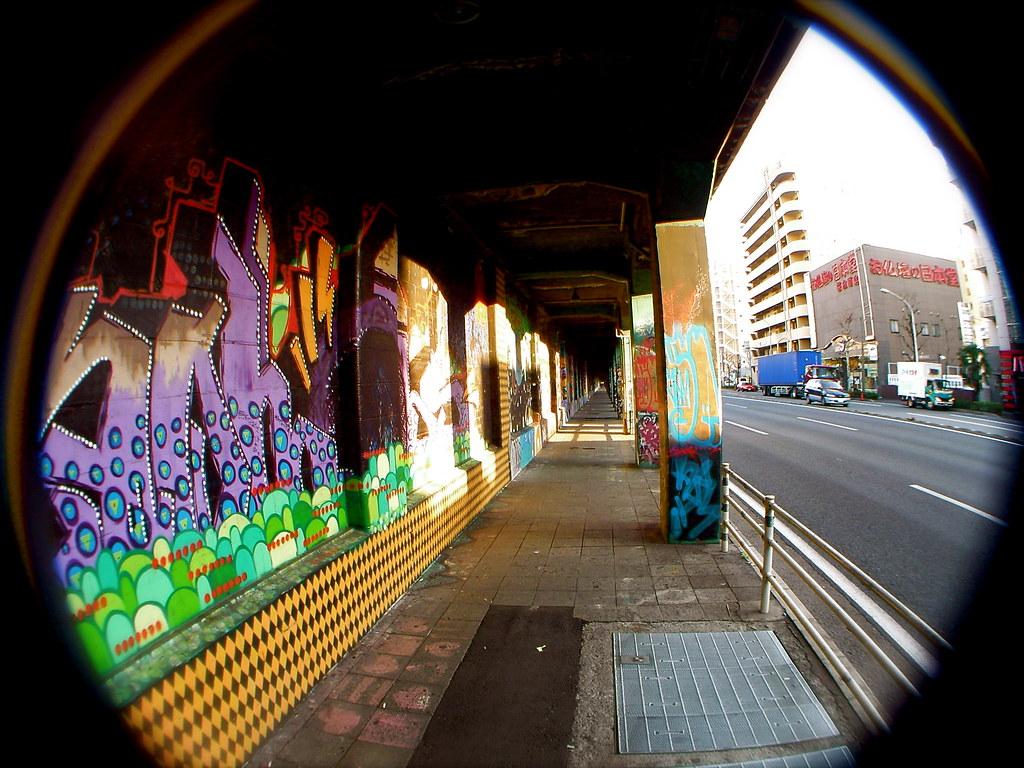 Yokohama graffiti wall - Sakuragicho Street Art Wall Of Fame Massiou Tags Art Japan Wall Graffiti Graf