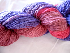 Patons bluebell, dyed and skeined