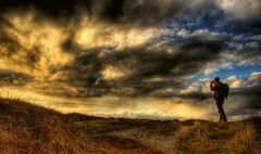This is what I call HDR-weather! (Amundn) Tags: sunset beach grass norway clouds geotagged stavanger norge nikon colorful sola photosafari hdr photographing takingpictures d300 solastrand 5xp usersigned82