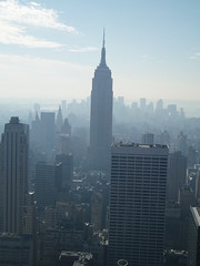 Empire State Building from Top of the Rock (jane_sanders) Tags: nyc newyorkcity newyork manhattan rockefellercenter empirestatebuilding topoftherock gebuilding