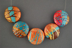 abstract landscapes Side 1 (metalartiste) Tags: naftali artbeads polymerclaybeads lentilbeads focalbeads pcagoe