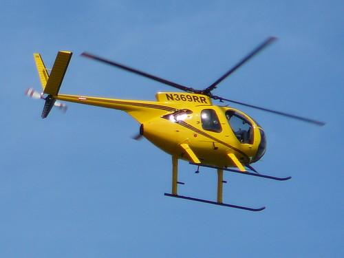N369RR, 1975 Hughes 369HS Helicopter, Barack Obama Rally, Portland, Oregon by Ryan Harvey.