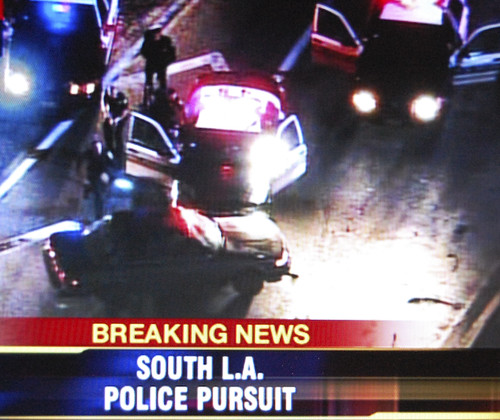 South L.A. Police Pursuit