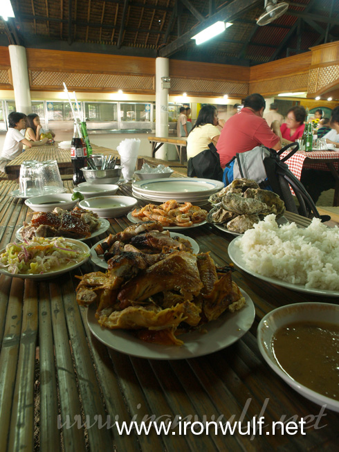 Our sumptous meal at Tatoy's Manokan and Seafoods