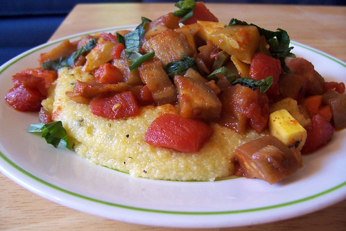 Spicy Vegetable Ragout over Polenta