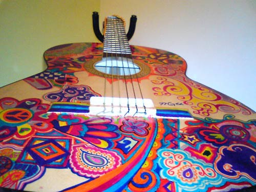 Alezgirl - DeviantART art guitar painted decoration