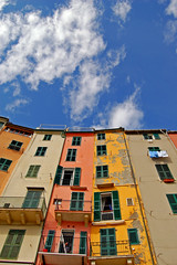 side by side (Stephan Wita) Tags: houses sky italy cloud house nikon october holidays balcony liguria genova cinqueterre portovenere d40 1on1photooftheweek 1on1photooftheweekoctober2008