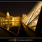 Pyramid and golden water @ Louvre, Paris, France :: Long exposure