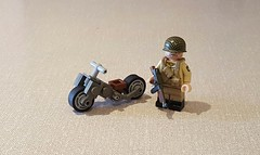 Airborne Motor Scooter (Project Azazel) Tags: lego projectazazel pa ww2 customlego custom legoscooter legomotorbike scooter customlegoscooter customlegomotorbike cb ba brickarms citizenbrick