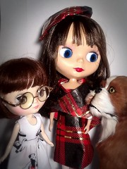 Toy-in-the-Frame Thursday & Blythe-a-Day# 6. Stock&# 2. Plaid: Rosalind&Friends