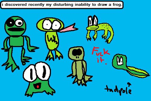 bad drawings of frogs