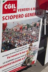 cartellone (sarasx) Tags: pordenone sciopero cgil fiom scioperogenerale fillea 6maggio2011
