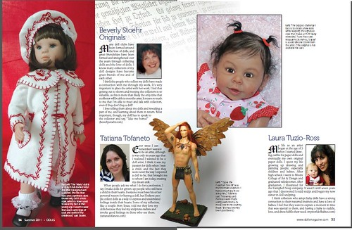 My work in Dolls Magazine, pages 34, 35 - Meu trabalho na revista Dolls Magazine by TatiDoll