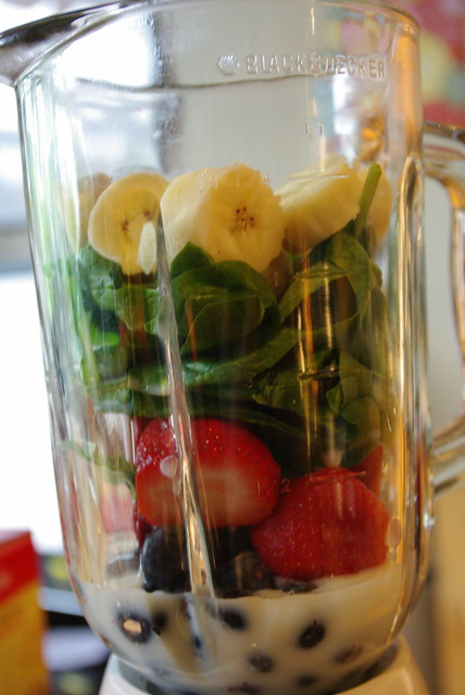 Green Smoothie - Blender Before