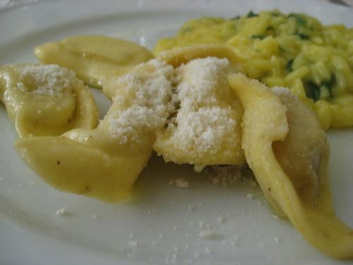 Casoncelli alla bergamasca & Risotto alla vecchia Milano con spinaci
