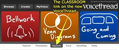 Classroom link on the new VoiceThread
