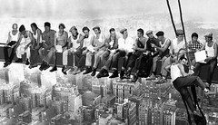 Lunch atop a skyscraper (pepe50) Tags: nyc travel friends party bw usa newyork apple 1932 canon lunch blackwhite flickr imac skyscrapers time manhattan lunchtime grattacielo 30s carpi ebbets artisticexpression supershot golddragon charlesebbets mywinners anawesomeshot flickrdiamond blackwhiteaward ysplix thatsclassy betterthangood pepe50 goldstaraward lunchatopskyscrapers smarritors charlesebbets1932