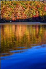 Sherando Lake - Near the Blue Ridge Parkway ([Christine]) Tags: fall reflections virginia blueridgeparkway sherandolake mywinners colorphotoaward