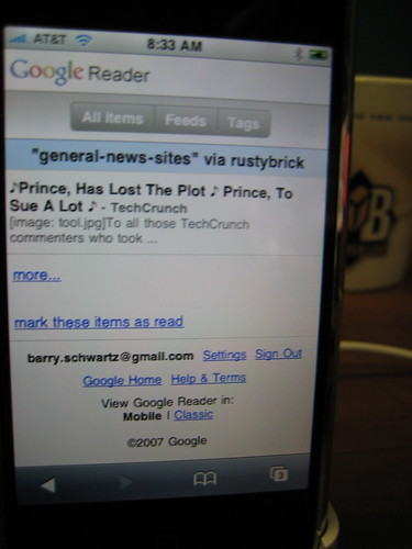 New Google Reader iPhone