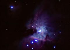 The Trapezium in Orion (Gautham Narayan) Tags: longexposure long exposure astro nebula m42 astronomy universe espace astronomie orionnebula e510 trapezium sciencecenterroof 10refractor