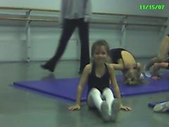 Open house at Emily's acrobatics class