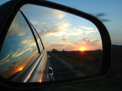 Texas Sunset in my Rear view (Texas to Mexico) Tags: trip sunset home car rural happy texas explore goinghome smalltown blessed fromthecar knippa mybestphotos bestthingsinlife uvaldecounty top20texas
