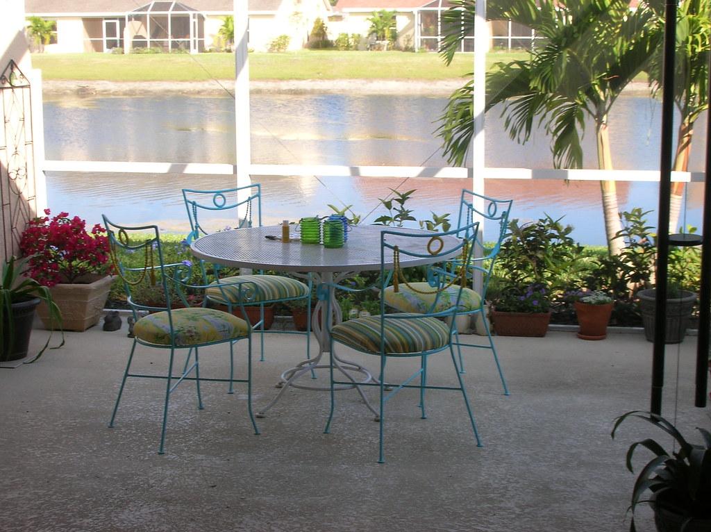 Our patio set